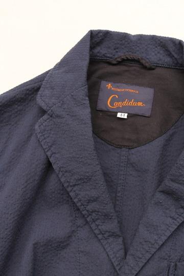Candidum Seersucker Shirt Jacket NAVY (2)