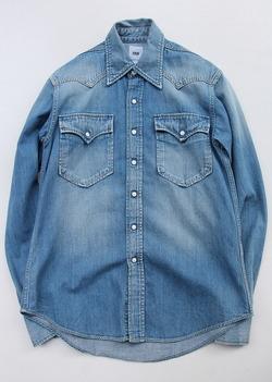 FOB  Vintage Washed Denim Western Shirt
