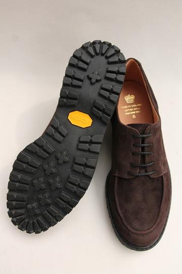 Crown Northampton Apron Shoes DK BROWN (6)