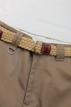 ATHISON Cotton Ring Belt BEIGE (2)