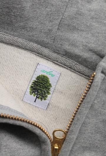Arbre HW Cotton Fleece Zip up Sweat Parka GREY (6)