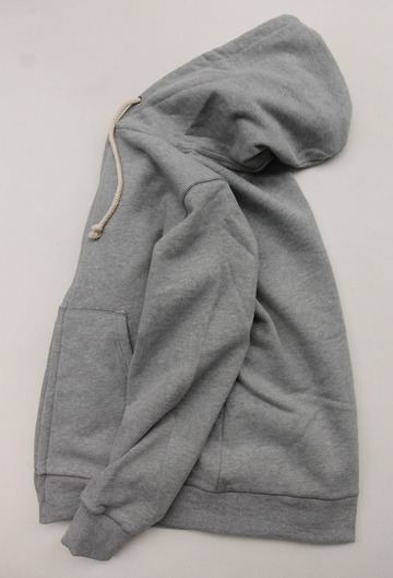 Arbre HW Cotton Fleece Zip up Sweat Parka GREY (5)
