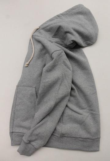 Arbre HW Cotton Fleece Zip up Sweat Parka GREY (5)