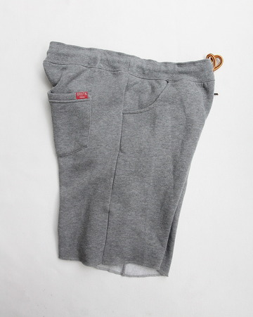 BRIXTON Folson Sweat Short HEATHER GREY (4)