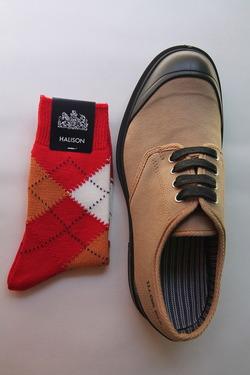 HALISON Dralon Cotton Srgyle Short Socks RED (2)