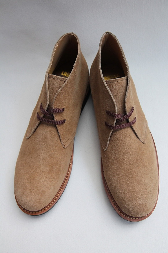 Laborer Shoes Postman Chukka BEIGE Suede