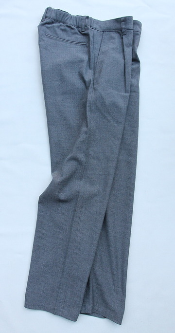 Harriss CARREMAN TR Stretch Heringbone 1P Tapered Pants GREY (6)