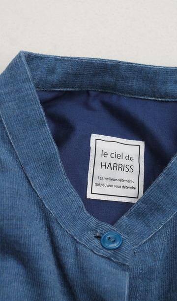 le ciel deHarriss Corduroy Button Dress BLUE (2)