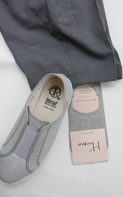 H Footwear Covered Socks Anti Slip System GREY