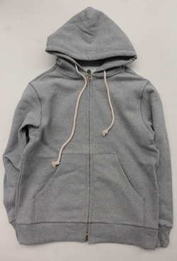 Arbre HW Cotton Fleece Zip up Sweat Parka GREY (2)