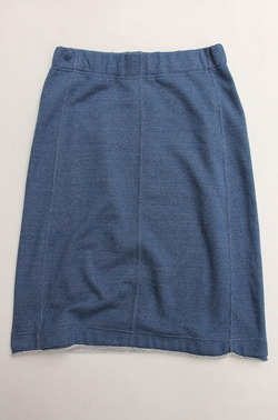 Harriss Grace French Terry Lounge Skirt DENIM