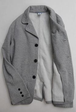 Goodon 9oz Cotton Fleece 3 Button Blazer H GREY (2)