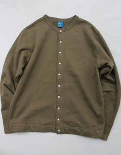 Goodon Crew Sweat Cardigan OLIVE
