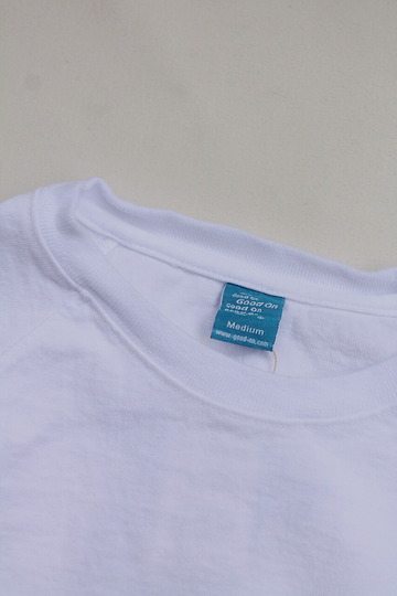 Goodon Heavy Raglan Pocket Tee Shirt WHITE (2)