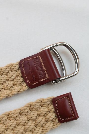 ATHISON Cotton Ring Belt BEIGE (3)