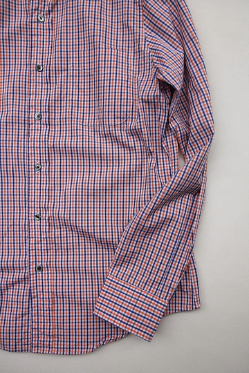 Harriss Plaid Shirt ORANGE X NAVY (3)
