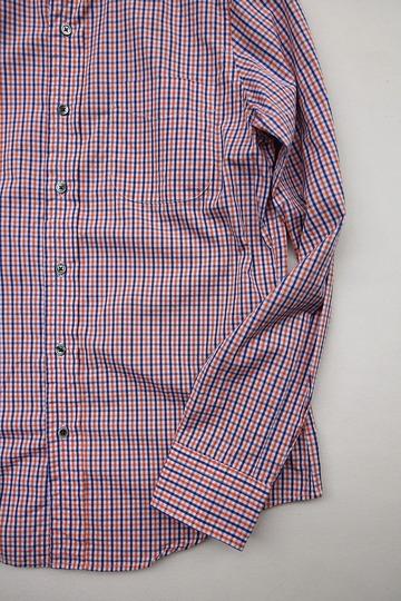 Harriss Plaid Shirt ORANGE X NAVY (3)