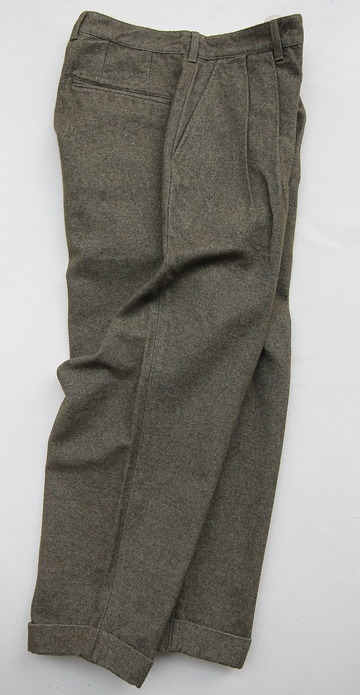 FOB 2 Tuck Wide Pants CW Back Satin OLIVE (7)