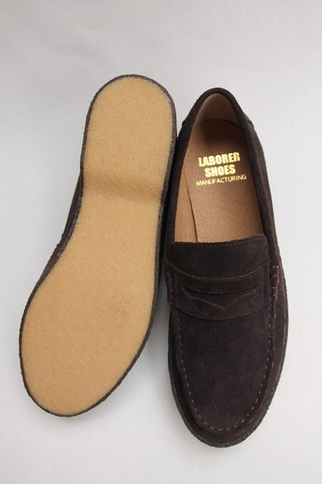 LABORRER SHOES Mudguard Loafer BROWN (5)