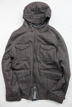 MIDA Reversible Down Jacket BROWN X NAVY