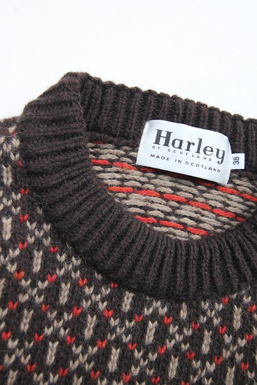 Harley Jacquard Double Crew Neck BROWN (3)