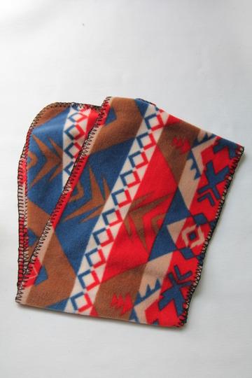 Rockmount Ranchwear Flease Muffler BLUE & CORAL NATIVE (4)