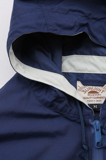 Sunlight Believer Packable Nylon Hooded Parka NAVY BLUE (3)