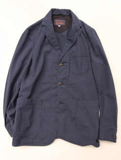 Candidum Seersucker Shirt Jacket NAVY
