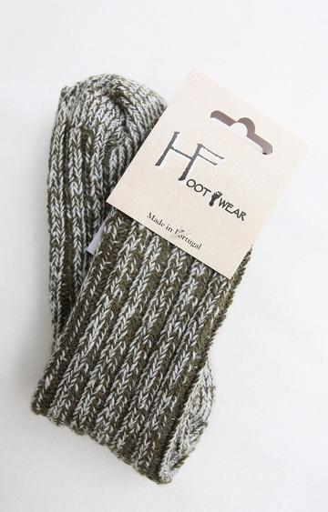 H Footwear Rib Socks OLIVE (2)