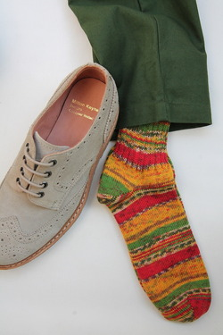GRANGE CRAFT Fair Isle Socks No 45