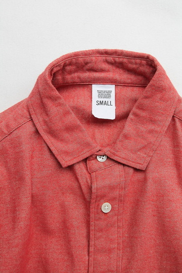 Your Uniform 20s Chambray Shirt Elbow Patch ORANGE (2)