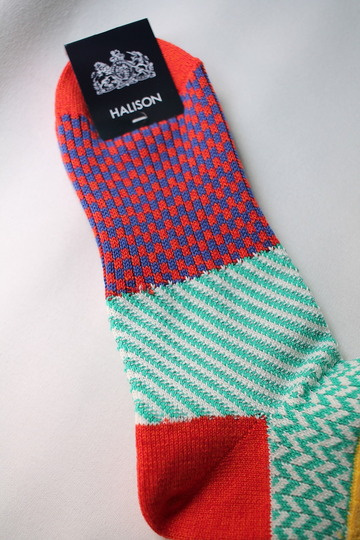 HALISON Cotton Multi Jacgaurd Short Socks ORANGE (3)