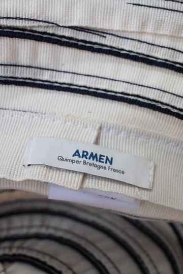 ARMEN Small Brim Tape Hat Navy x White (4)