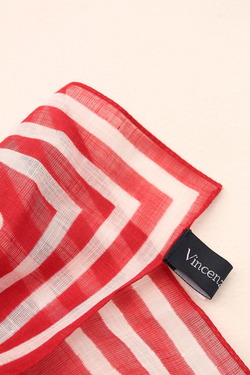 Vincenzo Miozza Cotton Linen Scarf RED 65cm x 65cm (2)