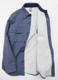Chums Sweat CPO Shirt H NAVY (2)