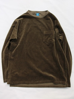 Goodon LS Velour Pocket OLIVE