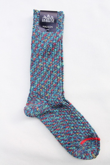 HALISON Marble Slab Rib Socks BLUE (3)