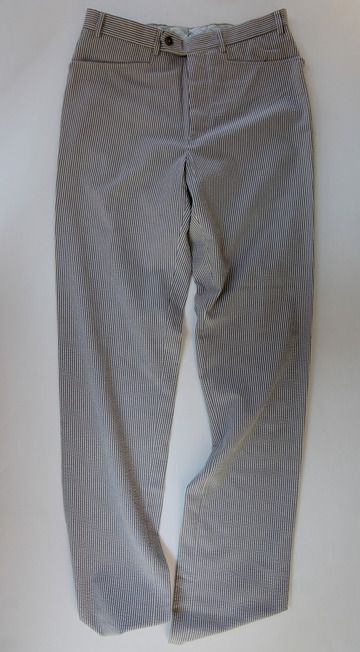 Mabitex Seersucker Tepered Pants BEIGE X GREY