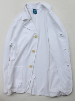 Goodon Cotton Mesh Pique 3 Button Jacket WHITE (4)