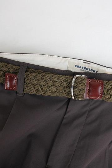 ATHISON Cotton Ring Belt OLIVE (2)