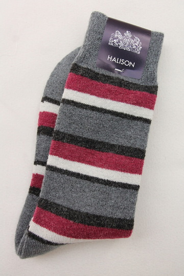 HALISON Doralon Multi Border Socks GREY (3)