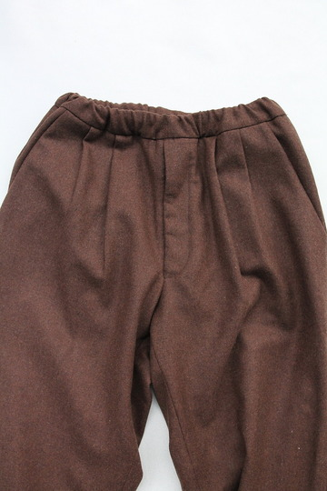 CEASTERS 2 Pleats Easy Trousers BROWN  by Burel (3)