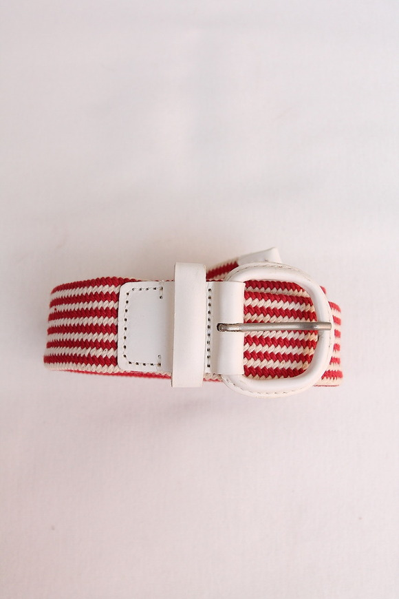 Stefano Corsini Cotton Breed Rubber Belt WHITE