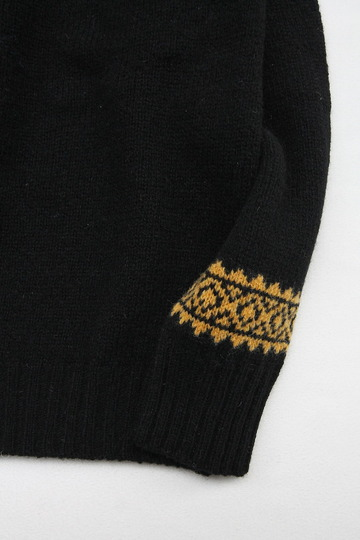 Harley Fairisle York 2Col Crew Neck BLACK NUGGET (3)