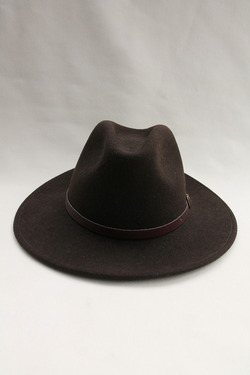 SORBATTI Mens Crushable Felt Hat BROWN