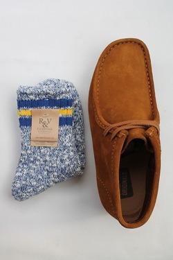 R&Vintage Nep 3Line Socks NAVY (2)