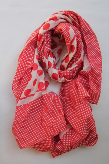 GLEN PRINCE Cotton Silk Stole 180X100cm RED (3)