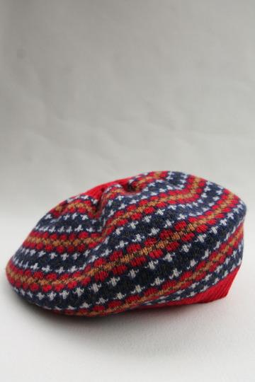 MACKIE Wool Jackquard Tam RED (2)