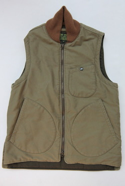 Keaton Chase Military Deck Vest Bedford Cloth OLIVE