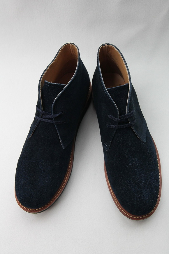 Laborer Shoes Postman Chukka NAVY Suede